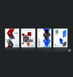 Business set brochure template layout vector