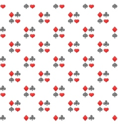Card suits pattern cartoon style vector image