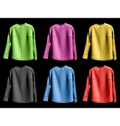 Collection colorful of jaket vector image vector image