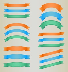 Collection of colorful retro ribbons vector image vector image