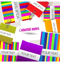 colorful little notes on white background with spa vector image