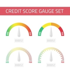 Credit score gauge set vector image