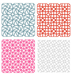 Geometric mesh seamless pattern in korean style vector