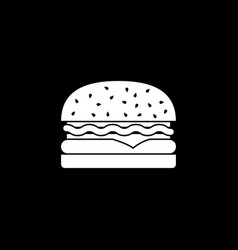 Hamburger solid icon food drink elements vector