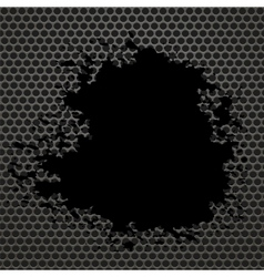Metallic Grid Perforated Background vector image