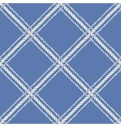 Nautical crossed rope seamless pattern vector