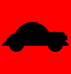 old car silhouette vector image vector image