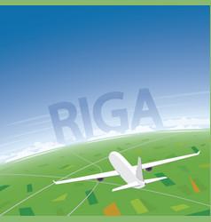 Riga flight destination vector