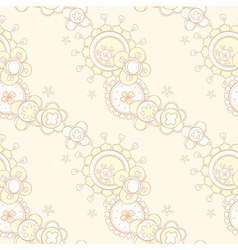 seamless pattern with abstract floral design vector image