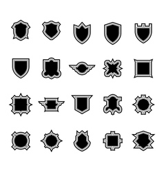 Shield set 3 vector