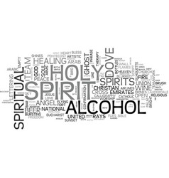 spirit word cloud concept vector image vector image