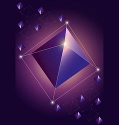 trendy cosmic crystal vector image