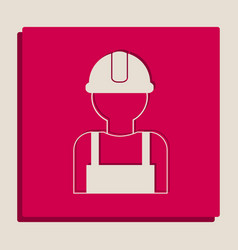 Worker sign grayscale version of popart vector