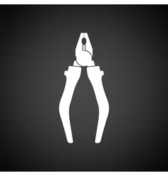 Pliers tool icon vector