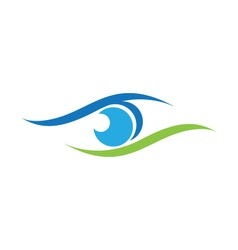 Eye care logo template vector