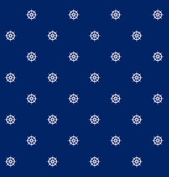 Boats wheel on blue background seamless pattern vector