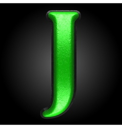 green plastic figure j vector image