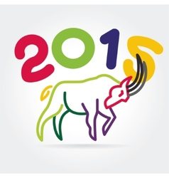 2015 goat symbol isolated on white background vector