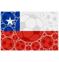 Chile soccer balls vector