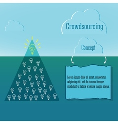 Crowdsourcing concept simple infographics and vector
