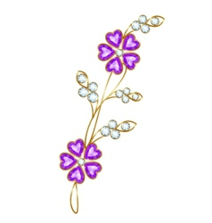 Jewelry flower branch vector