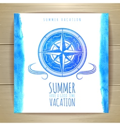 Watercolor summer typography design vector
