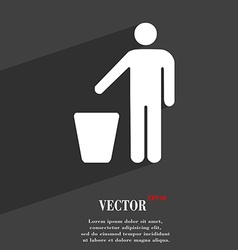 Throw away the trash icon symbol flat modern web vector