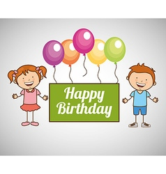 Happy children design vector