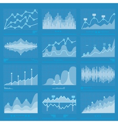 Big data statistics background vector