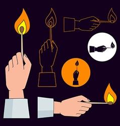 burning match vector image