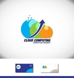Cloud computing arrow logo vector