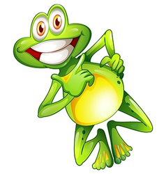 A very smiling frog vector image vector image