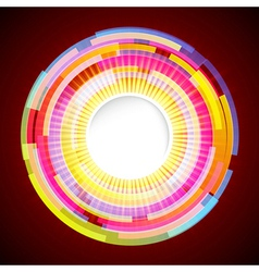 Abstract digital background with a round space for vector image vector image