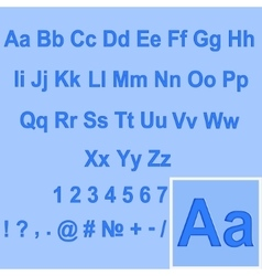 Alphabet Set The letters pressed into the vector image