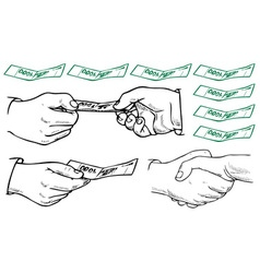 Business hands vector