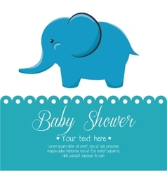 Card baby shower elephant cute isolated vector