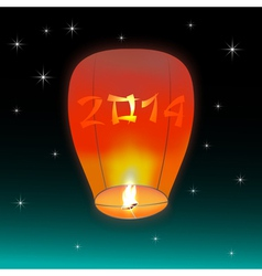 Chinese lantern 2014 vector image vector image