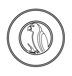 Cute parrot mascot icon vector