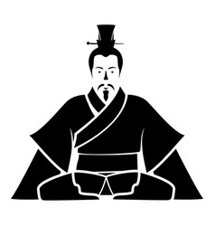 Emperor of china icon black icon flat vector