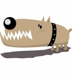evil dog vector image vector image