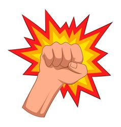 Fire fist icon cartoon style vector