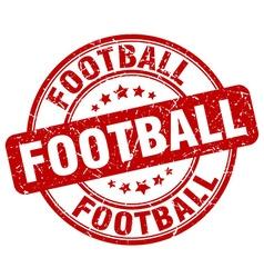 Football red grunge round vintage rubber stamp vector