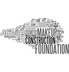 Foundation word cloud concept vector