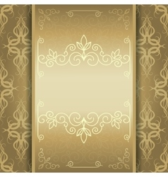 golden card invitation or menu vector image vector image