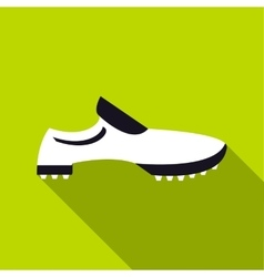 Golf shoes icon flat style vector