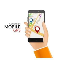 Gps phone navigation - mobile gps and tracking vector