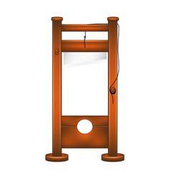 Guillotine in wooden design vector