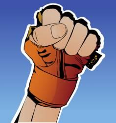 hand in glove vector image vector image