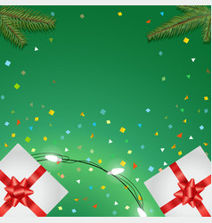Holiday greeting card templete happy holidays vector
