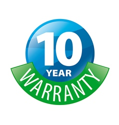 Logo in the shape of a circle 10 year warranty vector